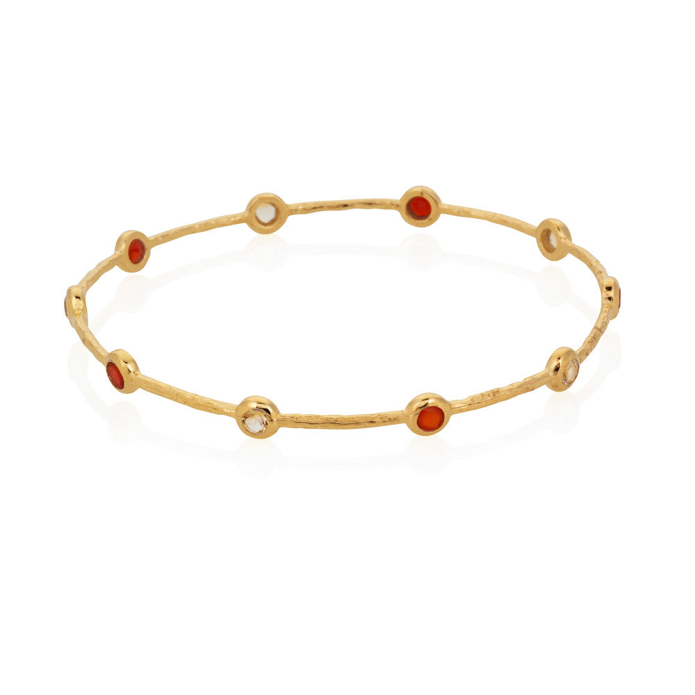 Indian Summer Red Agate & Citrine Bangle