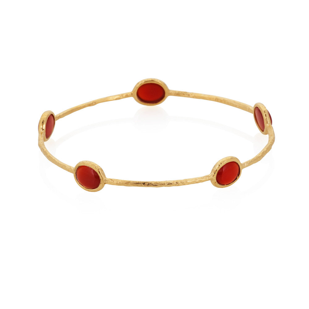 Indian Summer Red Agate Multi Stone Bangle