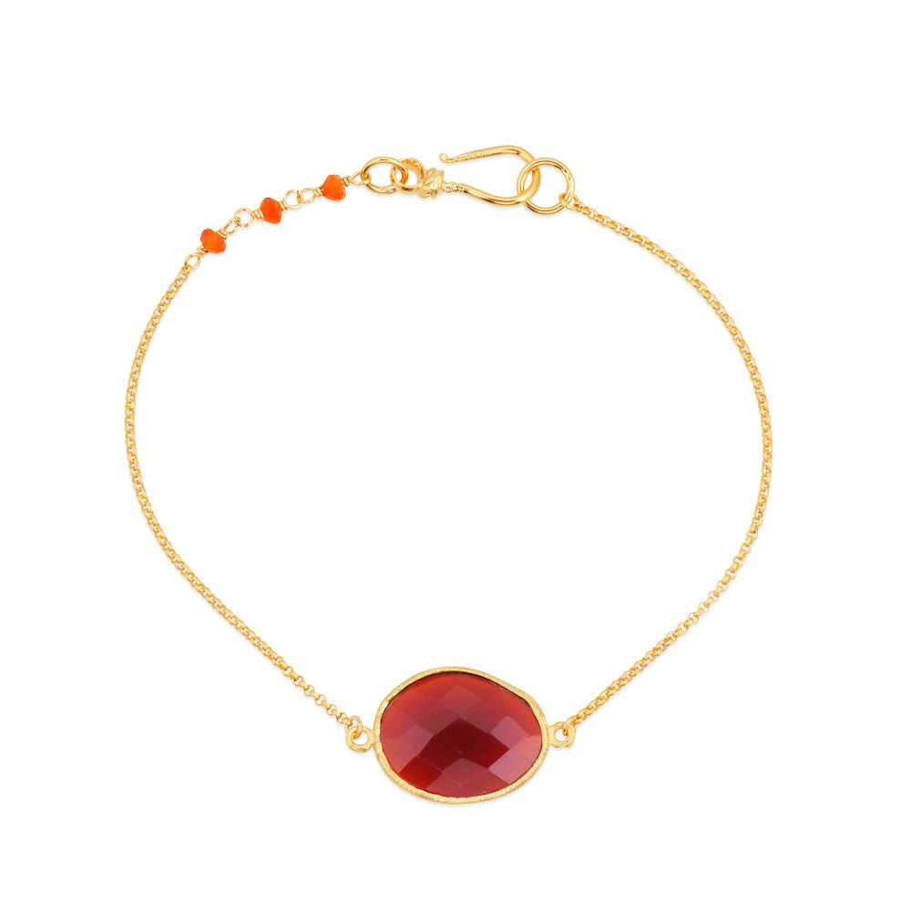 Indian Summer Red Agate Bracelet