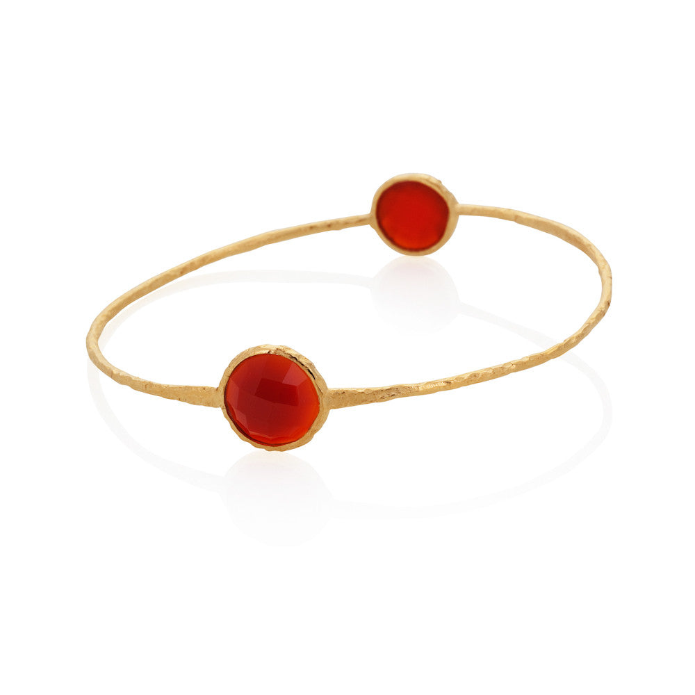 Indian Summer Round Red Agate Bangle