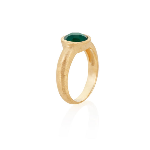 Indian Summer Green Agate Ring
