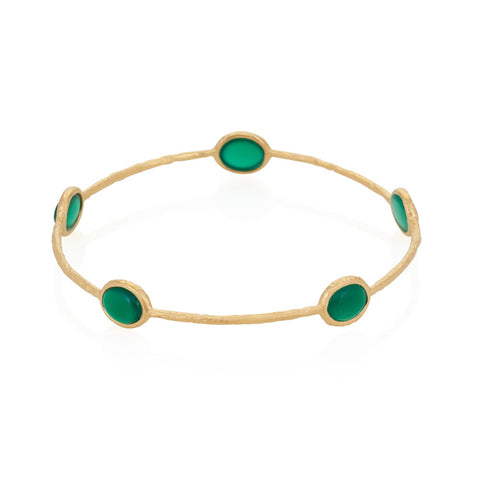 Indian Summer Green Agate Multi Stone Bangle