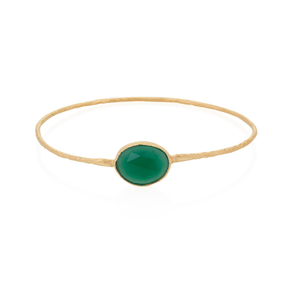 Indian Summer Green Agate Bangle