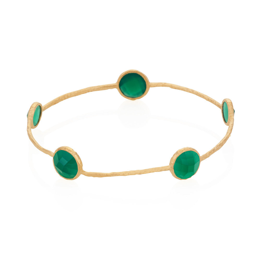 Indian Summer Green Agate Gemstone Bangle