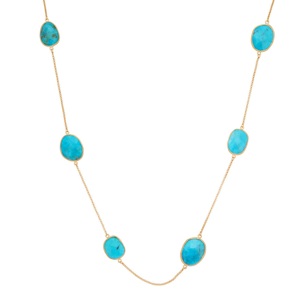 Indian Summer Turquoise Multi Stone Necklace