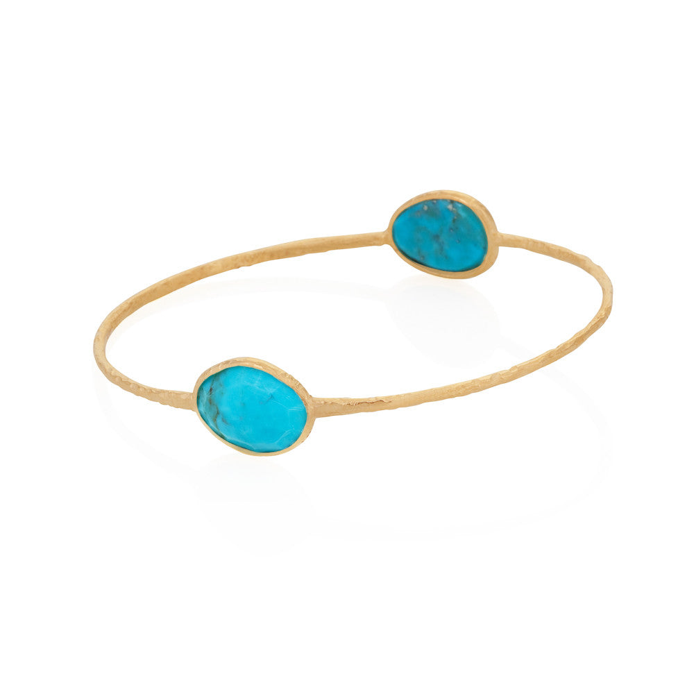 Indian Summer Double Oval Turquoise Bangle