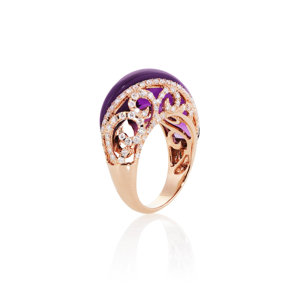 Under The Stars Fancy Amethyst & Diamond Ring