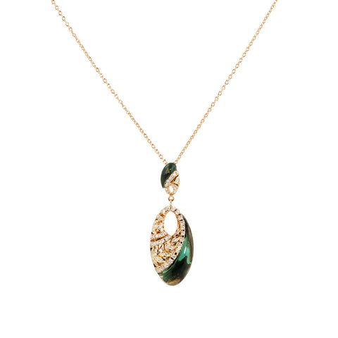 Under The Stars Fancy Prasiolite & Diamond Pendant