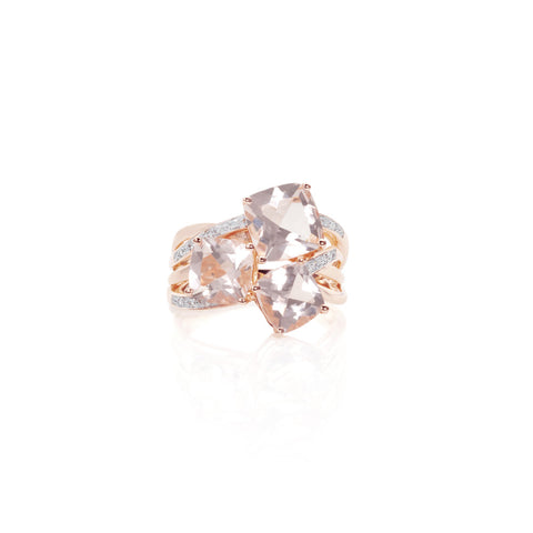 Pink Clouds Morganite & Diamond Ring