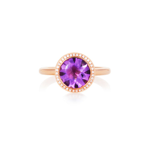 Under The Stars Amethyst & Diamond Ring