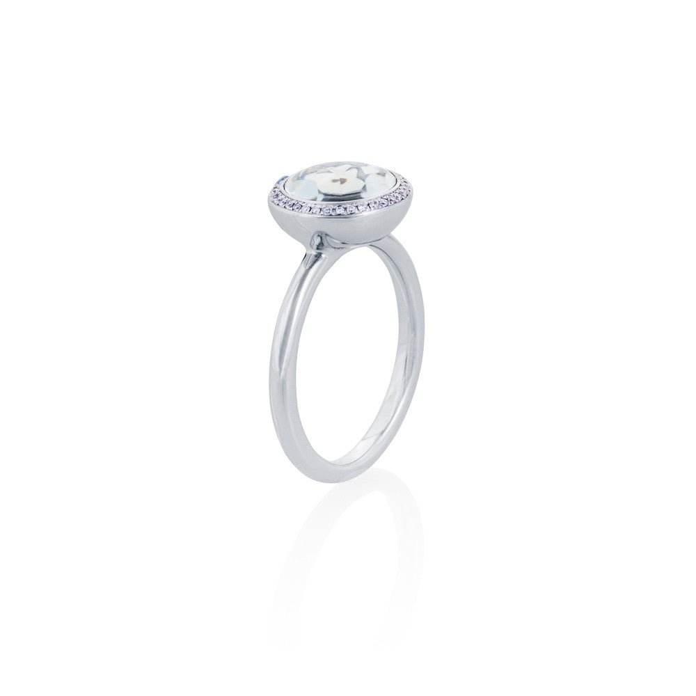 Under The Stars Prasiolite & Diamond Ring