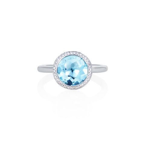 Under The Stars Blue Topaz & Diamond Ring