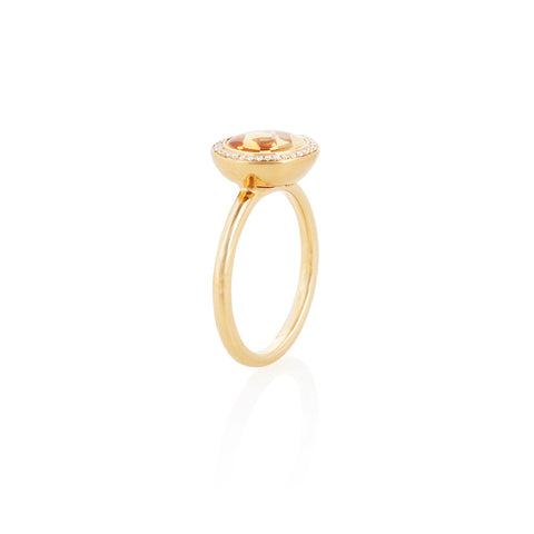 Under The Stars Citrine & Diamond Ring