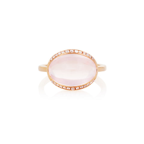 Firefly Evenings Rose Quartz & Diamond Ring