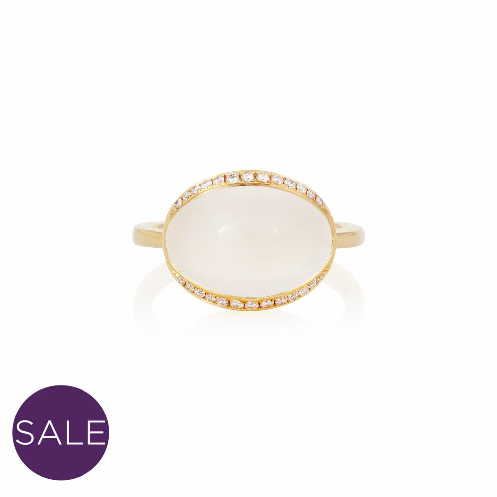 Firefly Evenings White Moonstone & Diamond Ring