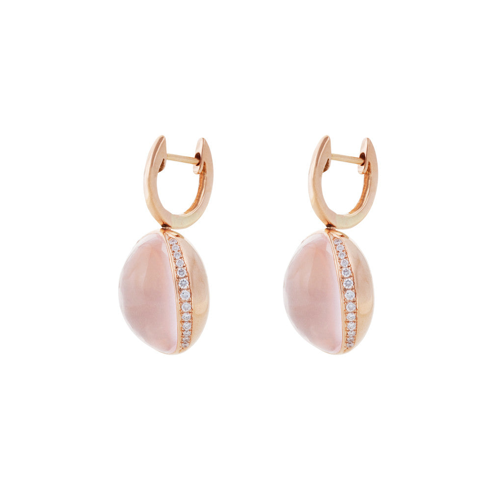 Firefly Evenings Rose Quartz & Diamond Earrings