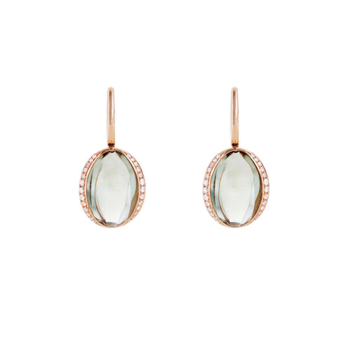 Firefly Evenings Prasiolite & Diamond Drop Earrings