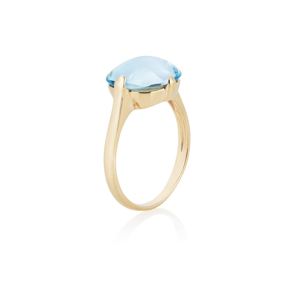 Mellow Sunshine Blue Topaz Ring