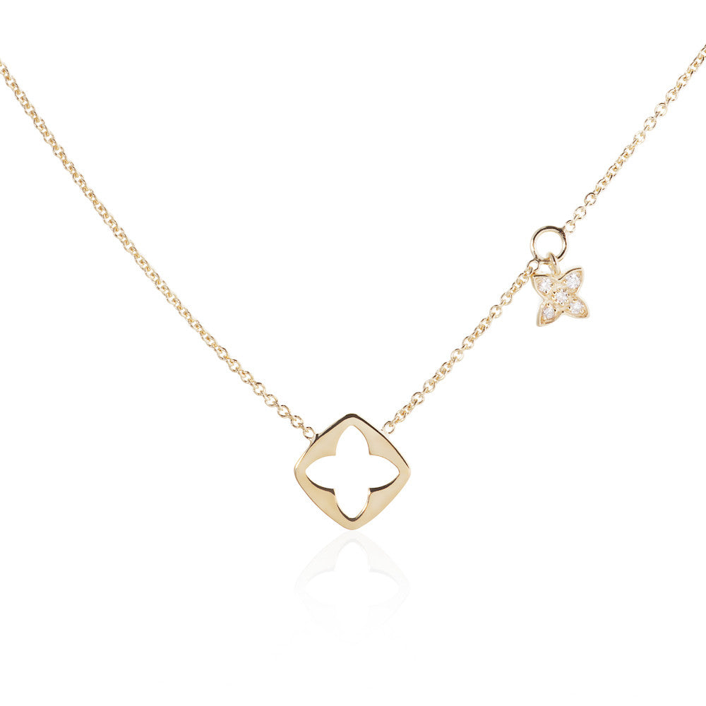 Enchanted Moment Lotus Emblem Necklace