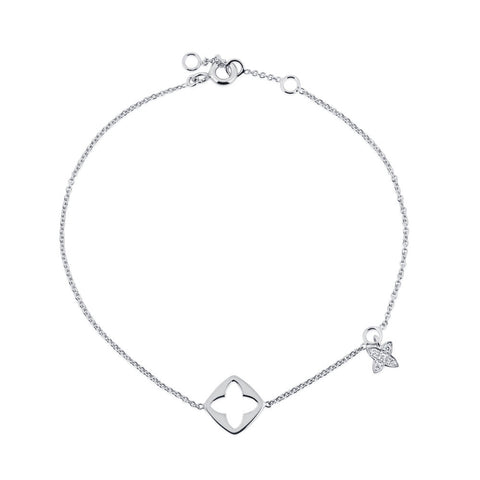 Enchanted Moment Lotus Charm Bracelet