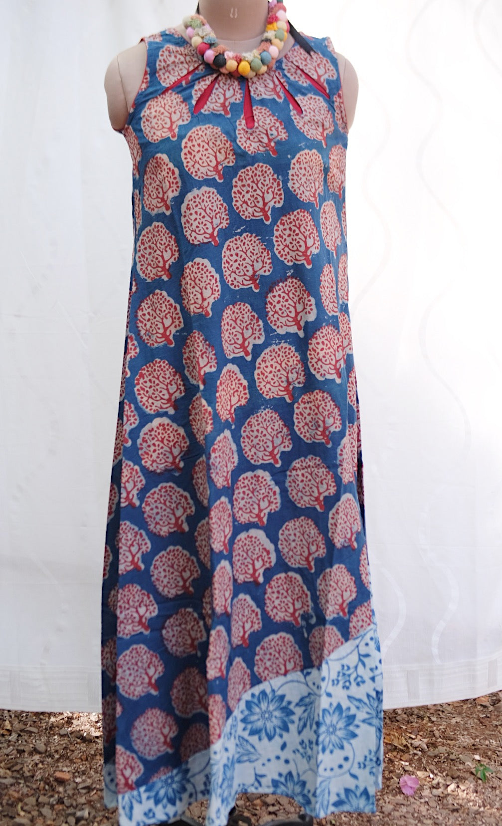 Tree Print Long Dress