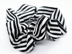 Scrunchies - Black & White Stripe