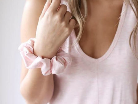 Scrunchies - Blush Linen
