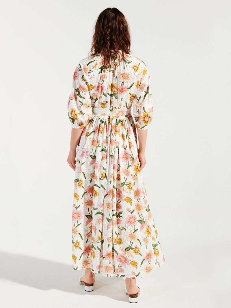Daydream Cotton Broderie Midi Shirt Dress