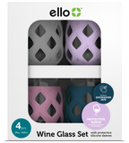 Cru Stemless Wine Glass Set with Silicone Protection