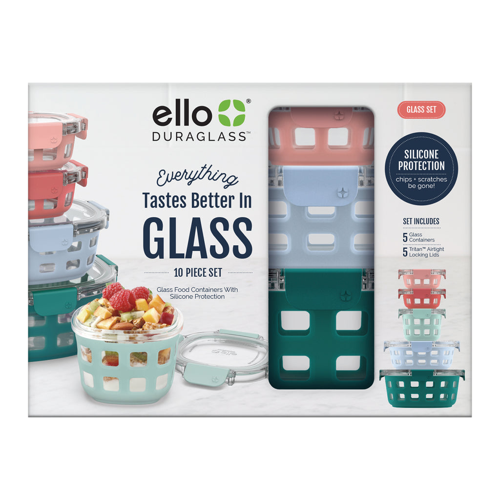 Ello Duraglass™ 10pc Round Meal Prep Set