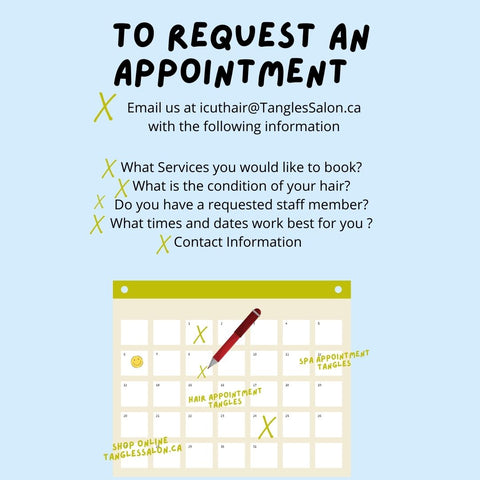 To request and appointment