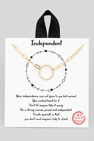 Paris Circle Necklace