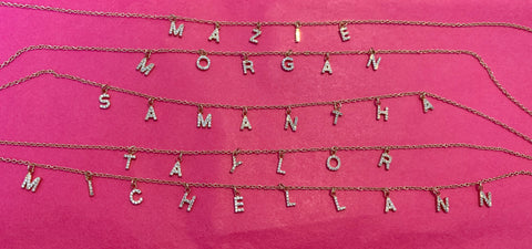 Personalized Name Necklace (Stones)- PRE ORDER