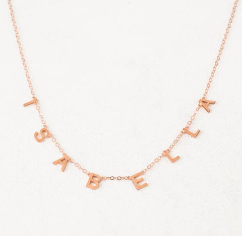 Name It Necklace- PRE ORDER