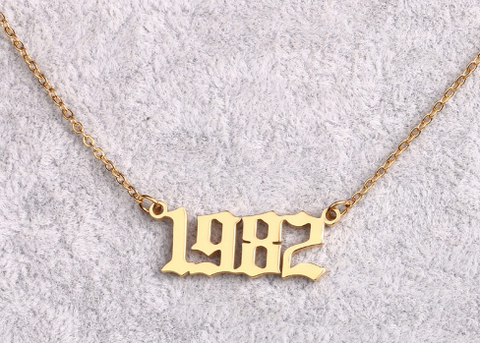 Year Necklace- PRE ORDER