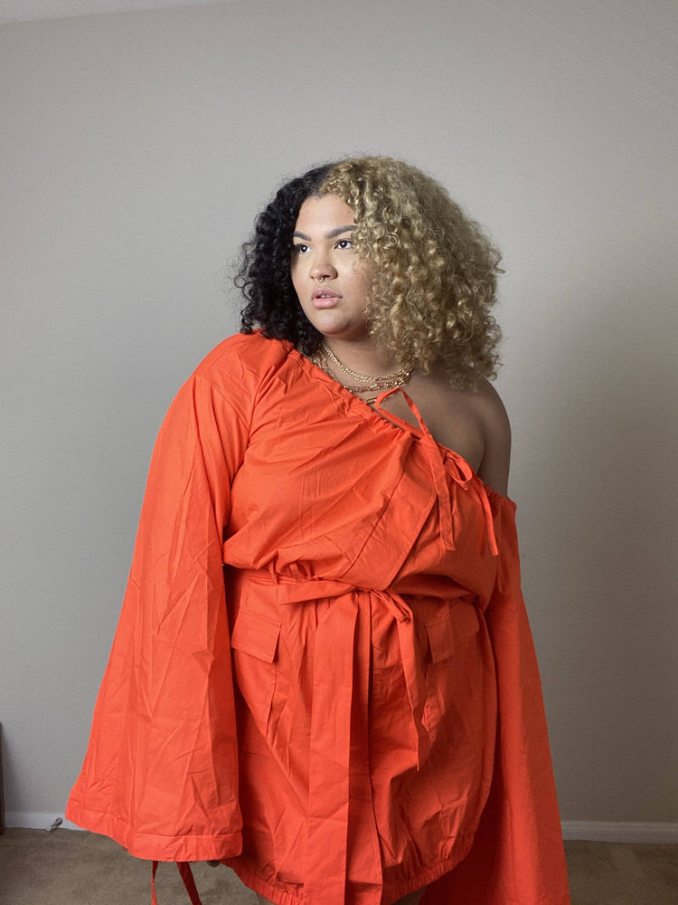 off the shoulder plus size dress