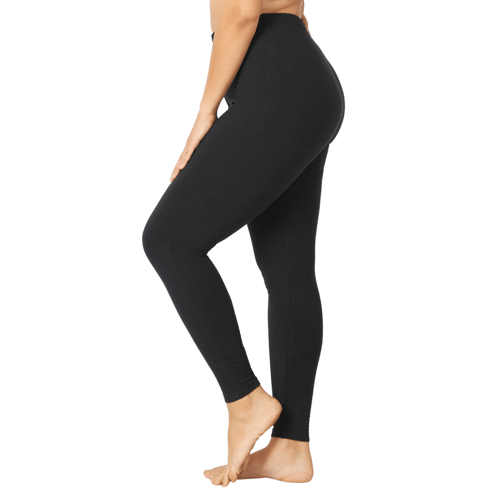 Load image into Gallery viewer, black leggings plus size