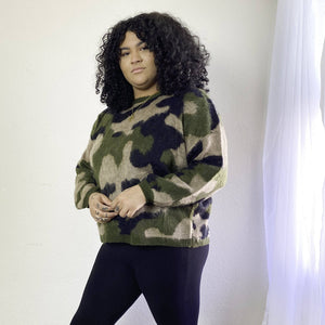 camouflage sweater womens