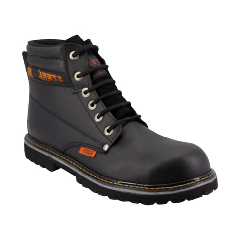 Botas Steel Boost Color Negro Modelo 8510C