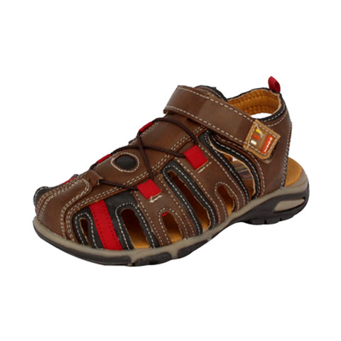 Sandalias  Mini Vic Color Cognac/Chocolate Estilo 1224