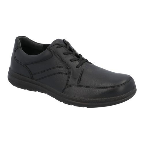 Zapatos Casuales de Piel Flexi Color Negro Estilo 50607