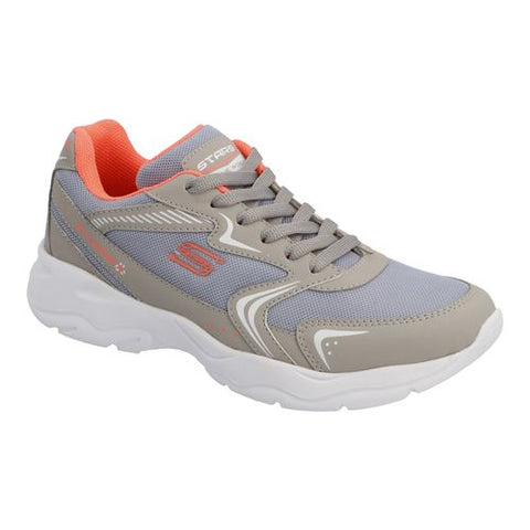 Tenis Deportivos  Stars Of The World Color Gris/Coral Estilo 8557