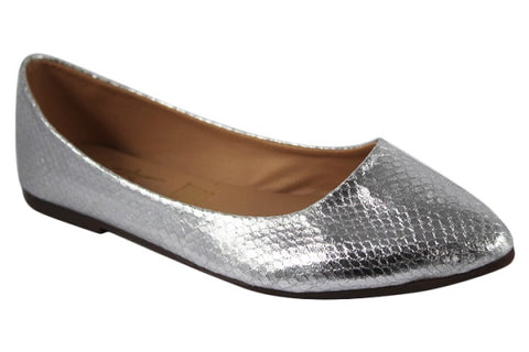 Flats Citlally Color Plata Modelo 206