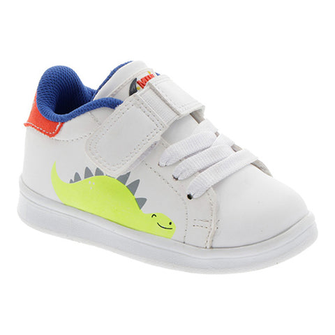 Tenis Urbanos MINI MOON By MANCHITAS Color Blanco/Naranja Modelo 2970