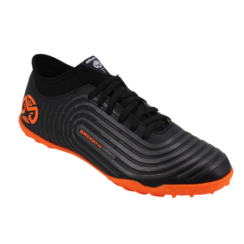 Tenis Deportivos Indoor Mayckers Color Negro/Naranja Modelo 1194