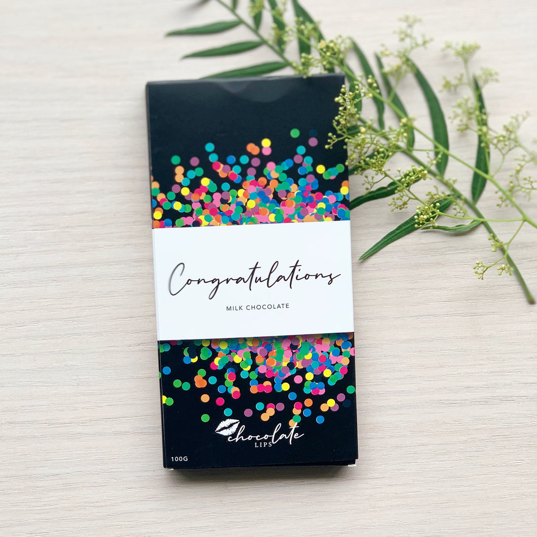 Milk Chocolate Bar | CONGRATULATIONS