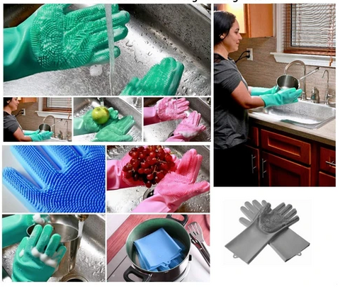 Amazing Silicone Dishwashing Gloves can clean everything
