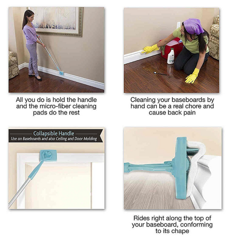 Extendable Baseboard Cleaner easy to use