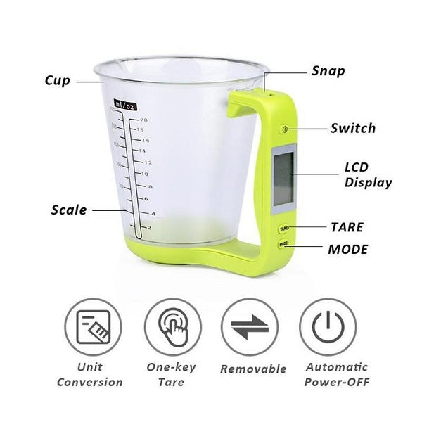 4-in-1 Digital Electronic Measuring Cup Scale