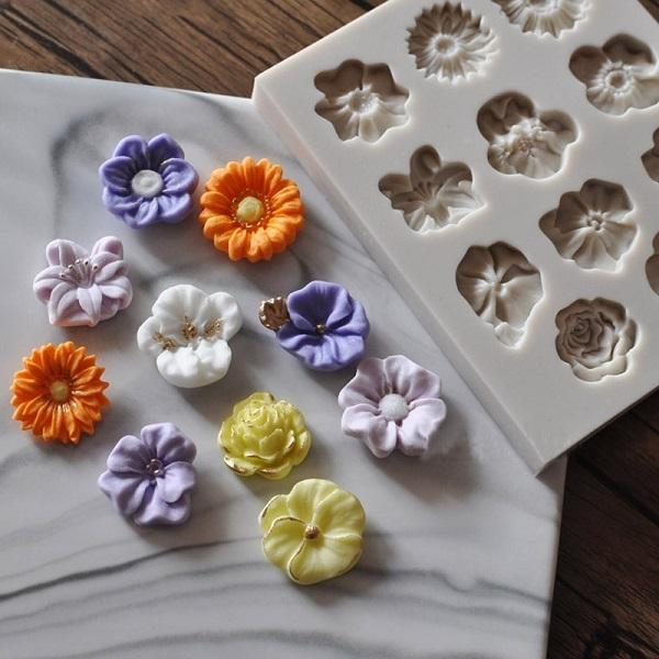 Flowers Shape Silicone Mold Cake Border